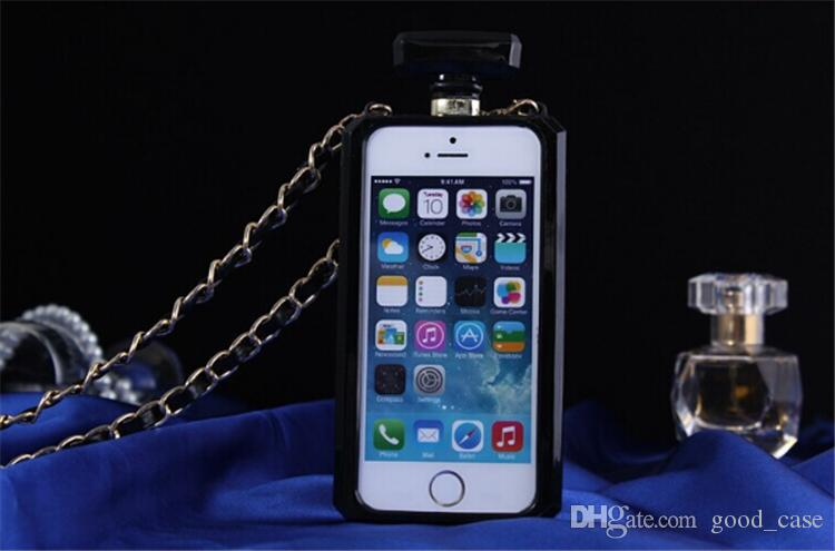 For iphone 7 case Perfume Bottle bottles Cases women clear Transparent cover with chainfor Iphone 5s se 6s plus Samsung note 5 S5 S6 s7 best