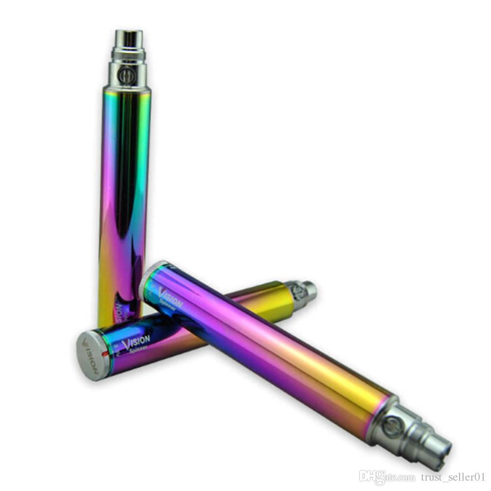 Vision Spinner Rainbow Batterie Cigarette électronique eGo C Twist 650mAh 900 mAh 1100 mAh 1300 mAh tension variable 3.3-4.8 V réservoir stylos vape mods
