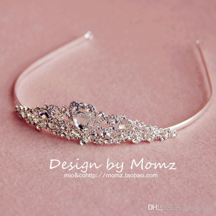 High Quality Shiny Crystal Princess Bridal Crowns Simple Elegant Empire Hair Wedding Accessories Rhinestone Tiaras Bridal Hair Wear