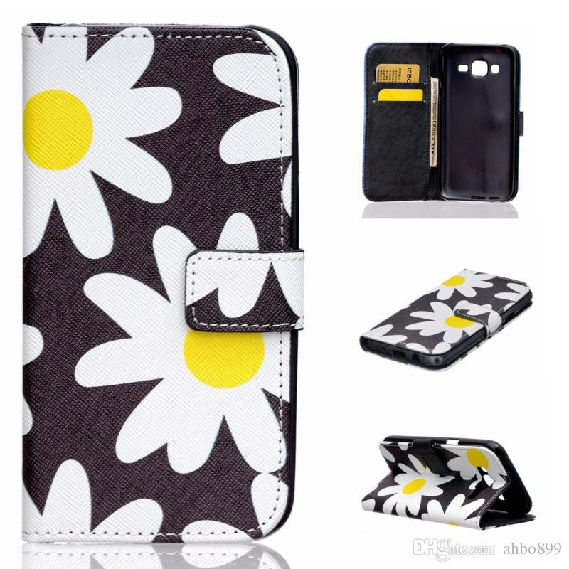 Cute Pug Bear Elephant Big Owl Flower Wallet PU Leather Cover Case For Samsung Galaxy J5 With Card Holder and Book Style