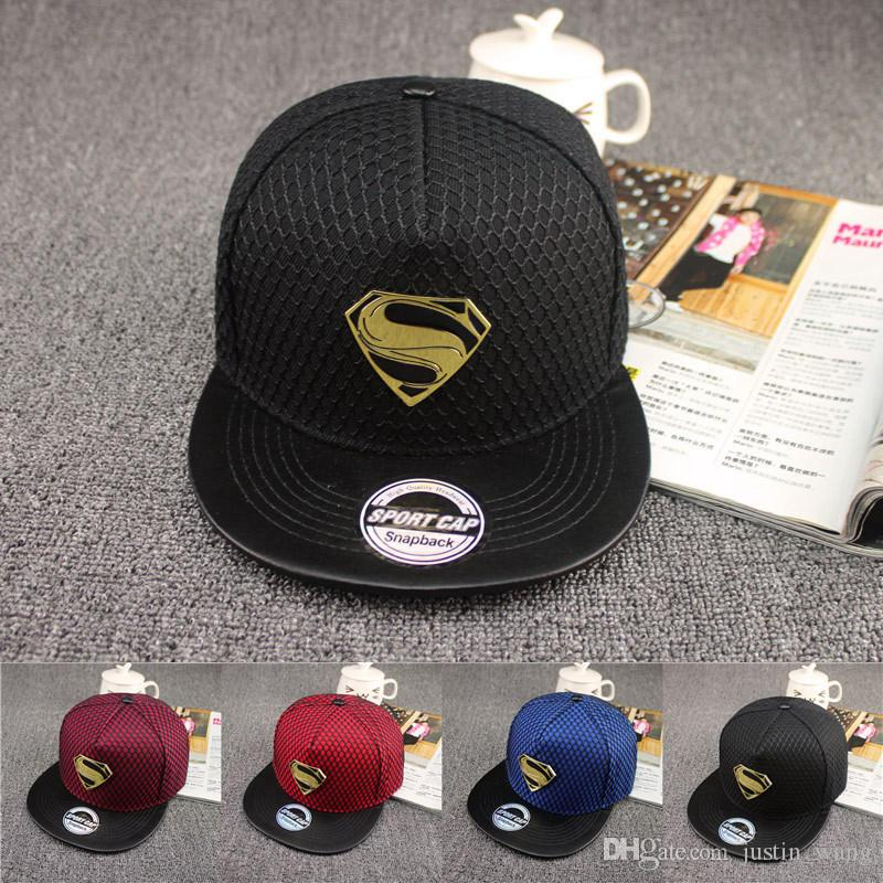 2f91f14bb6d 2019 Superman Baseball Cap New Fashion Summer Brand Hat For Men Women  Casual Bone Hip Hop Snapback Caps Sun Hats From Justin wang