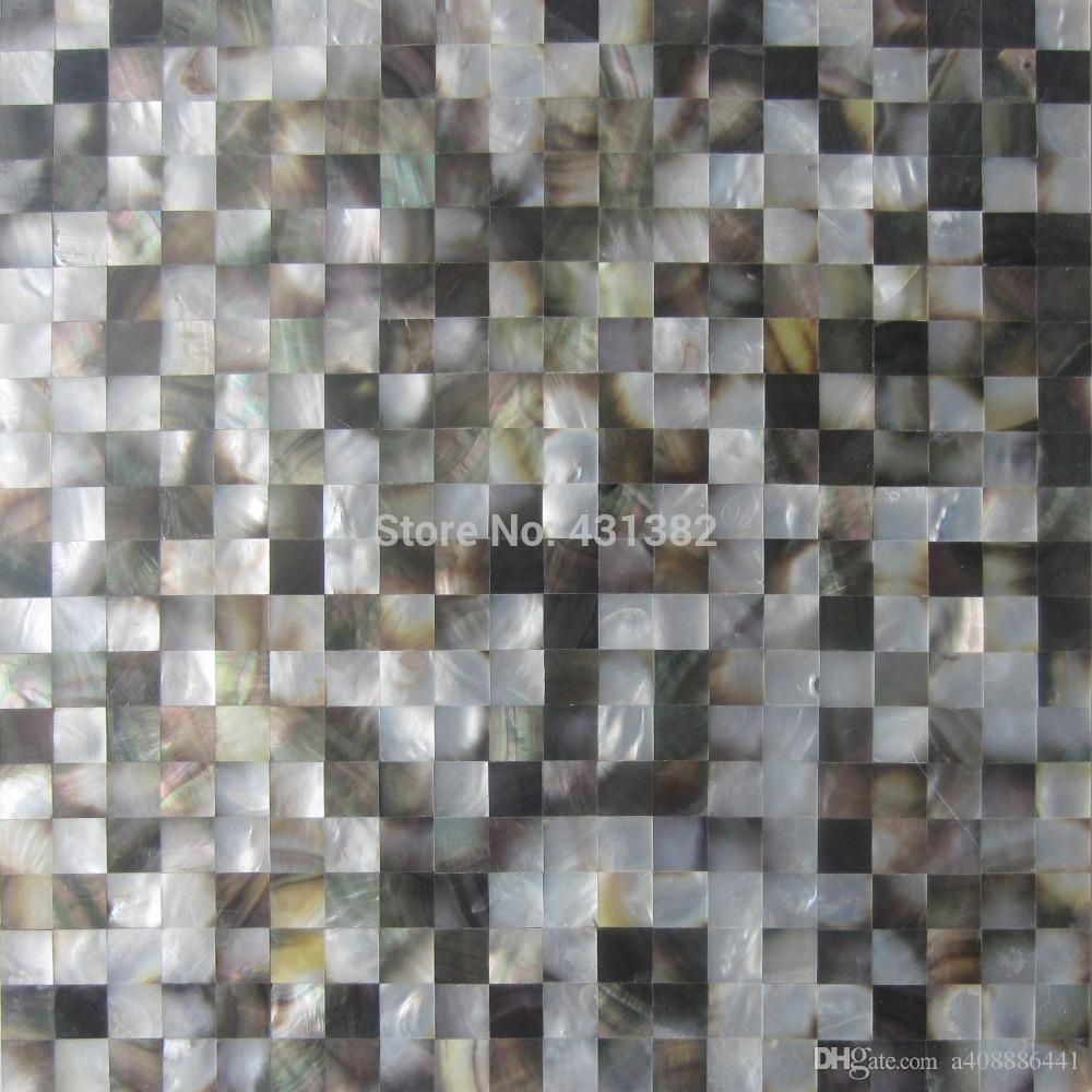 blacklip mother of pearl tiles15x15 backsplash kitchen bathroom mirror tile backspalsh wall shell mosaics mother of pearl tile from a408886441