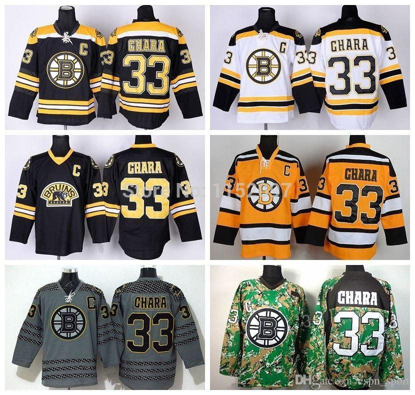 2018 2015 Cheap Ice Hockey Boston Bruins Zdeno Chara Jersey #33 Third Bear  Alternate Black Uniform Chara Bruins Jersey From Espn_sport, $23.85 |  Dhgate.Com