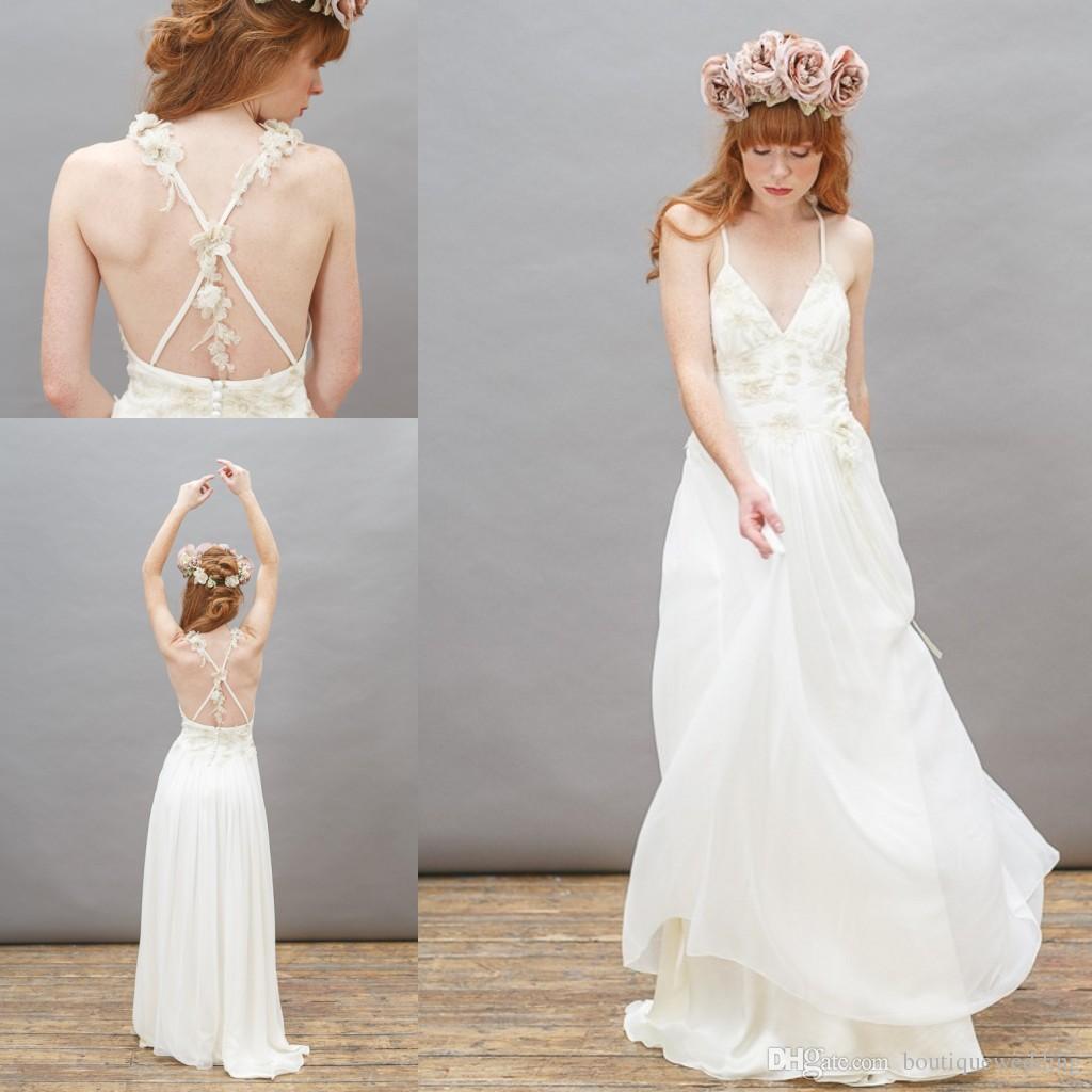cross back wedding dress | Wedding