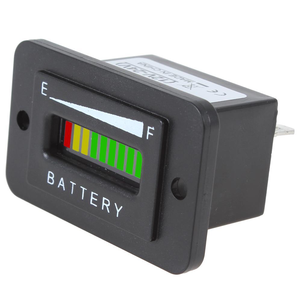2019 12 24v 36v 48v Three Color 10 Bar Led Battery