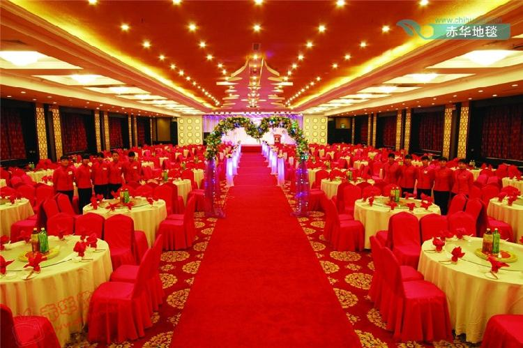 Wholesale wedding decoration red carpet wedding carpet for Hotel wedding decor