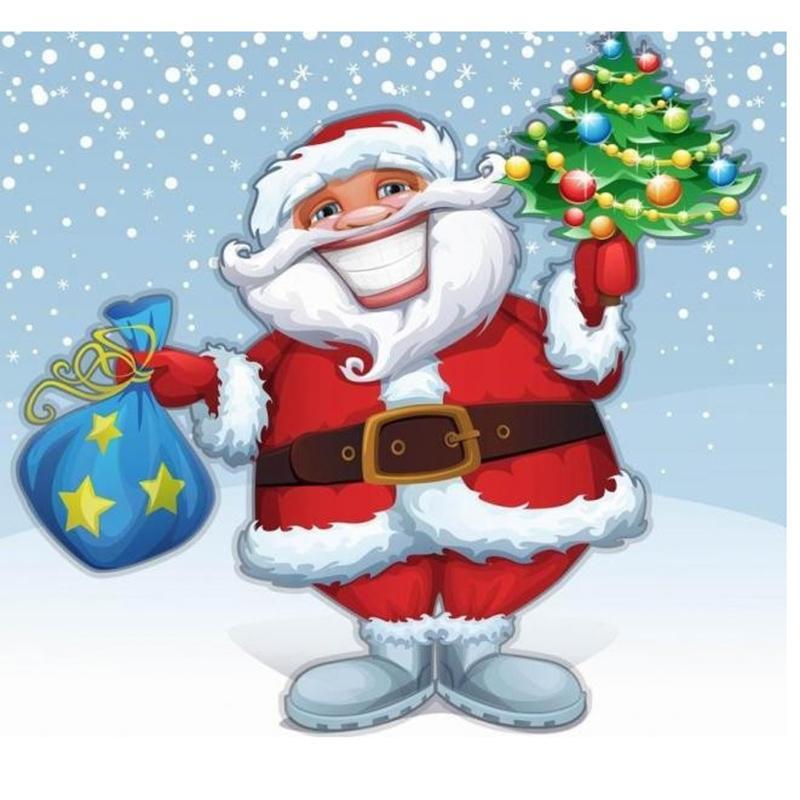 Satın Al Tam Elmas Boyama çapraz Dikiş Noel Baba Noel Ağacı