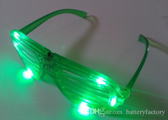 LED Light Glasses Flashing Shutters Shape Occhiali LED Flash Occhiali da sole Dances Party Supplies Decorazione di Natale Hollowen