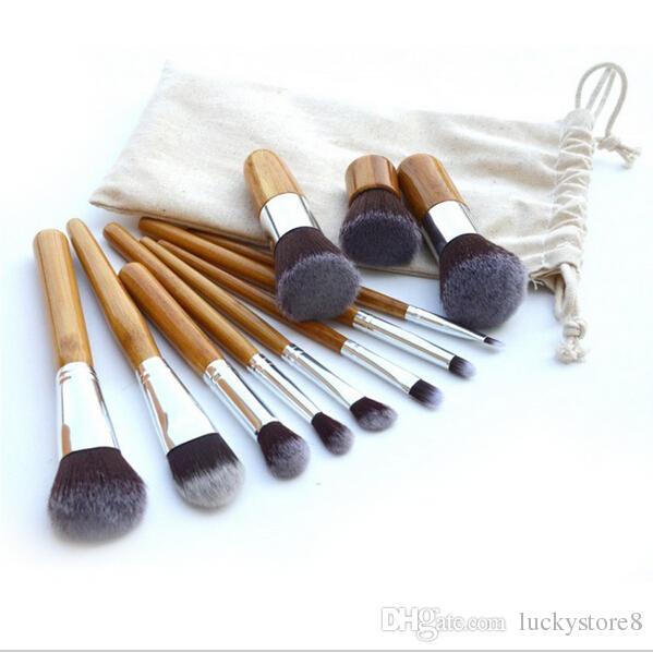 Professional brush bamboo handle makeup brushes,make up brush set cosmetics brush kits tools