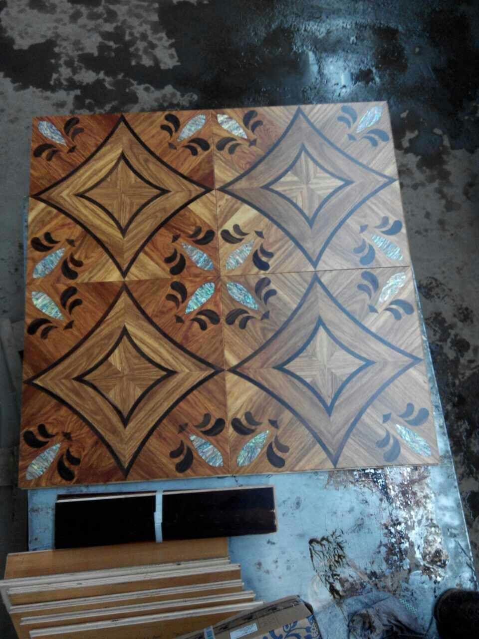 Copper Wood Floor Mosaic F Medallion Flooring Geothermal Wood - Medallion flooring distributor