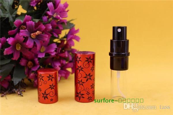 profumo esagonale del fiore 10ml di vendita calda Mini Atomizzatore di spruzzo della bottiglia vuota del profumo di trucco dopobarba portatile
