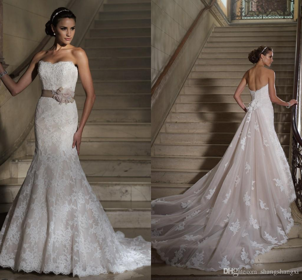 Discount 2015 Dennis Basso Wedding Dresses A Line Strapless ...