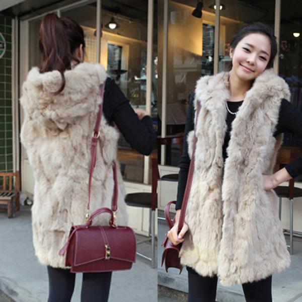 Online Cheap 2015 Women Ladies Shaggy Faux Fur Coat Vest ...