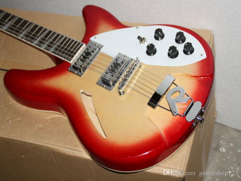 miglior chitarra cina Deluxe Modello 360/12 STRING Chitarra elettrica Semi Hollow Cherry Burst