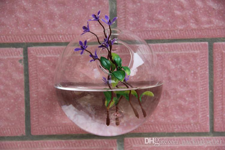 Clear Transparent Hanging Glass Vase Air Plant Wall Glass Terrarium