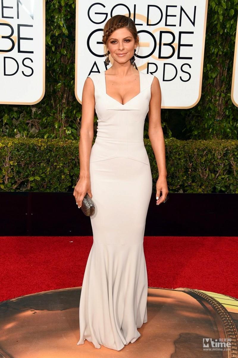 73a Golden Globe Awards 2016 Abiti da celebrità Elegante sirena con scollo a V al pavimento Abiti da sera su misura