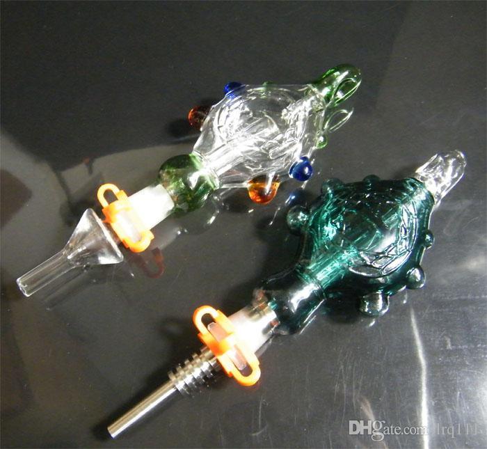 2016 nova chegada néctar Kits de pingente de colecionador com titânio prego de quartzo unhas de vidro Wearable Bongs Water-cooled e Spillproof DHL