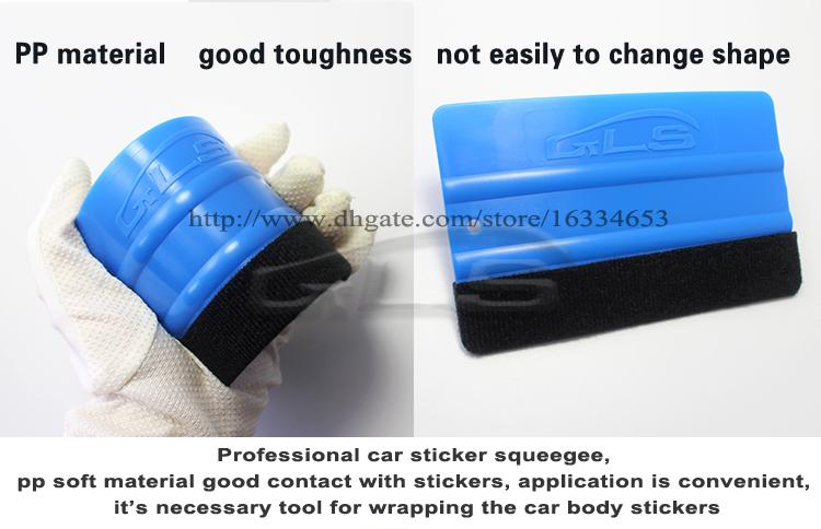 5 بوصة مكشطة مع شعر لينة البلاستيك سيارة التفاف الممسحة ل ورق الحائط الممسحة أداة شحن مجاني 5 قطع لكل لوط يحرر