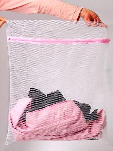 30 * 40 CM Çamaşır Makinesi İhtisas İç Çamaşır Torbası Örgü Çanta Sutyen Yıkama Bakım Çamaşır Torbaları en iyi fiyat ve kalite çanta içinde