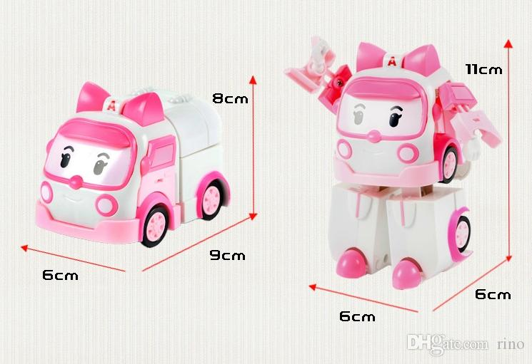 Robocar poli deformation car toys 4 styles police car fire truck ambulance helicopter mixed for kids toys