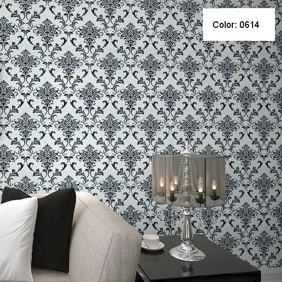 Italian Vinyl Print Damascus European Wallpaper Bedroom