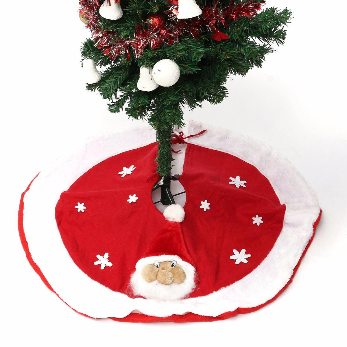 wholesale christmas tree skirt non woven aprons stand ornament xmas party decor navidad christmas decorations home straight edge 80cm christmas yard decor - Wholesale Christmas Yard Decorations