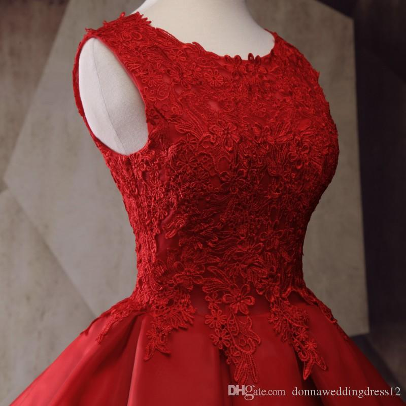 Party Dresses Dark Red Short Prom Dresses For Teens 2017 Ruffles Organza Vintage Lace Appliques Dress For Graduation Mini Gowns
