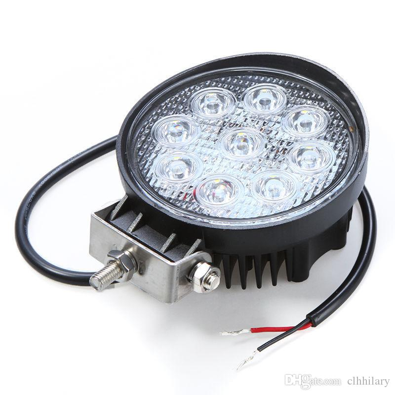 LED Work Light 4'' inch 27W 12V 24V Spot Flood Lamp for Motorcycle Tractor Truck Trailer SUV Off roads Boat 4WD 4X4
