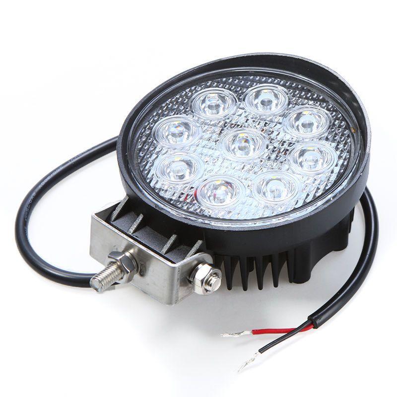"Hot Sale 4"" inch white 4x4 SUV Tractor Train Bus Spot/Flood 27W LED Work Light off-road fog working lights bulbs headlights"