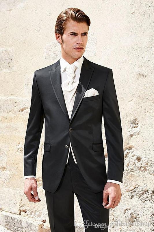 New Collection Men's Suits Lapel Collar Formal Party Clothing Light Slim Classic Blazers Plus Size Jacket+Pants+Vest Wool Blend