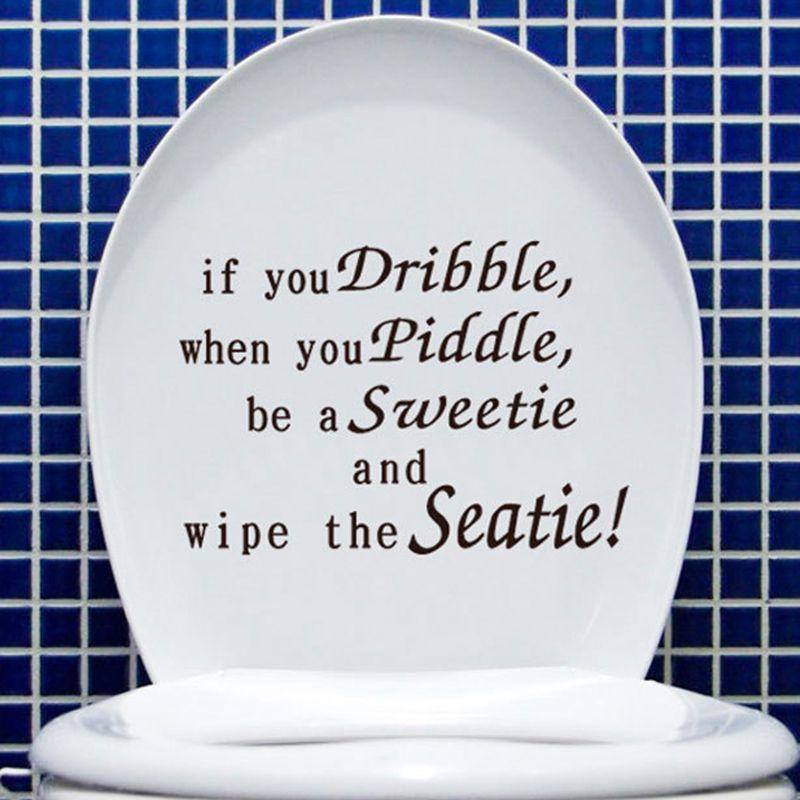 Wall Decals Quote Wall Stickers If You Dribble Funny Toilet Decals Toilet  Bathroom Stickerstoilet Sticker On The Bathroom Wall Cling Ons Wall Clings  From ...