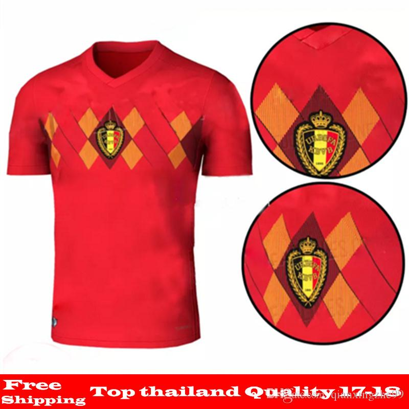Belgium 2018 World Cup Home Red AAA Quality LUKAKU FELLAINI E.HAZARD ... 1777d6b9a