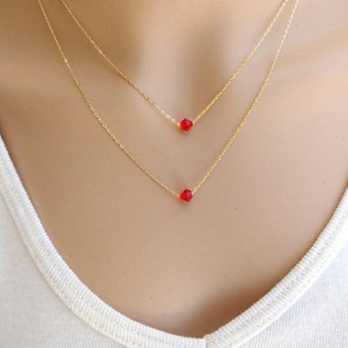 2018 Double Necklaces Pendants 18k Rose Gold Aesthetic Fashion