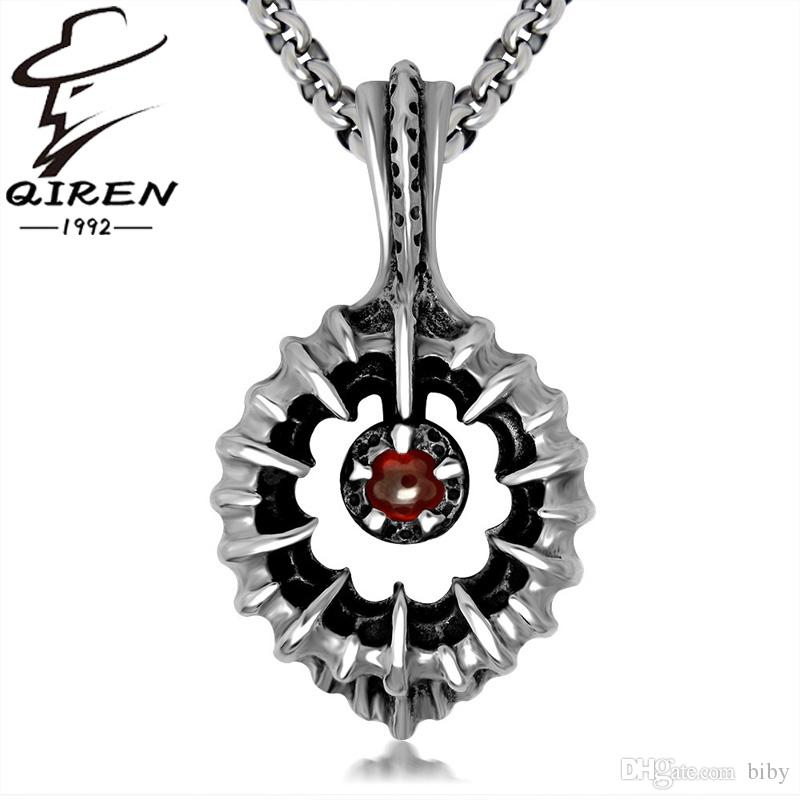 Wholesale 316l stainless steel necklaces garnet pendant punk retro wholesale 316l stainless steel necklaces garnet pendant punk retro personality series fashion necklace gift without chain sp432 round pendant necklace gold aloadofball Image collections
