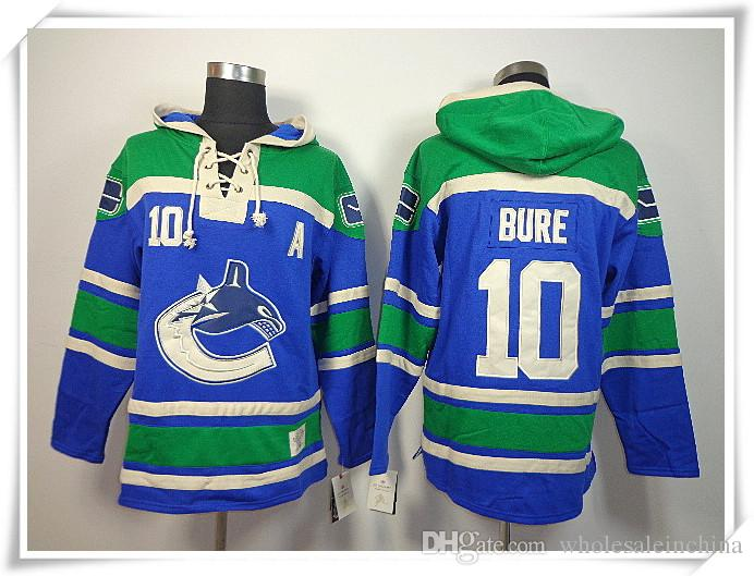 2018 Ice Hockey Hoodies Jerseys Canucks Men #10 Bure 3 Bieksa 14 Burrows  Blue Best Quality Stitching Jerseys Sports Jersey From Wholesaleinchina, ...