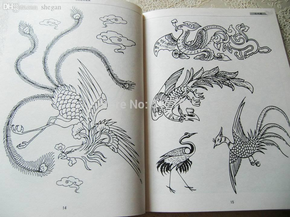 Wholesale New Tattoo Books Traditional Dragon Phoenix Chinese ...