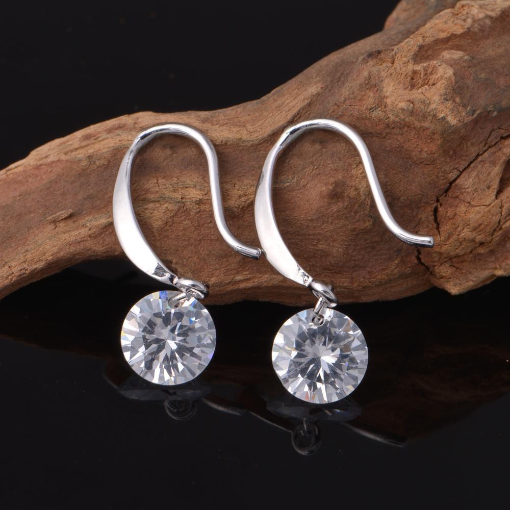 حار 925 فضة تشيكوسلوفاكيا الماس انخفاض الأقراط الأزياء والمجوهرات الاشتباك هدية للمرأة الحرة الشحن نوعية جيدة