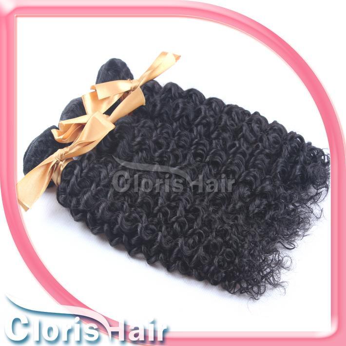 Ombre fai da te Cloris non trasformati brasiliano afro crespo ricci estensioni dei capelli umani miglior prezzo jerry curl remi tessuto dei capelli 2 pacchi 100 g / pz