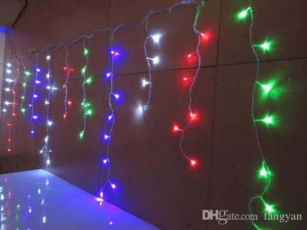 Büyük Uzun 20 m 720LED Icicle Perde Dize Işıklar Noel Partisi için 8 Modu flaş + 220 V Güç Fiş + Ekran Denetleyicisi + Kuyruk Fiş