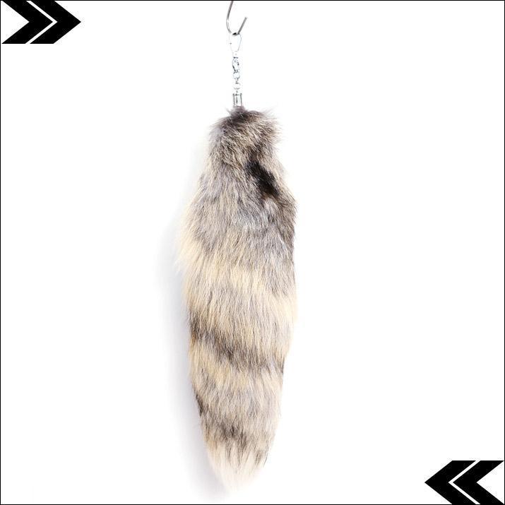 Fashion Key Chain Fox Tail Fur Tassel Bag Tag Charm Keychain Keyring Cosplay Toy Wholesale