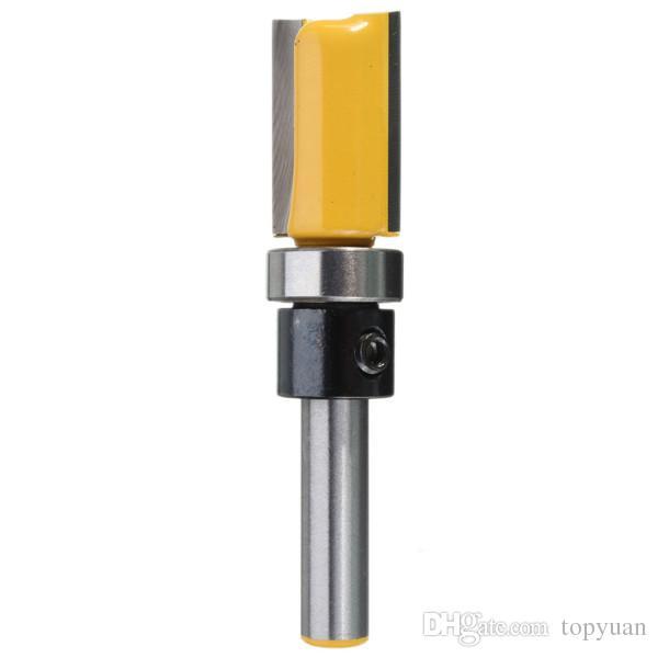 Cortador de trituração do Woodworking do aparamento do bocado do router do cortador da pata de 1/4 de polegada