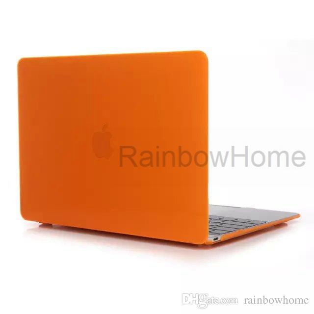 Custodia in plastica trasparente anteriore + cover posteriore MacBook Air Pro Retina 12 13.3 15.4 Scatola trasparente di custodia protettiva trasparente