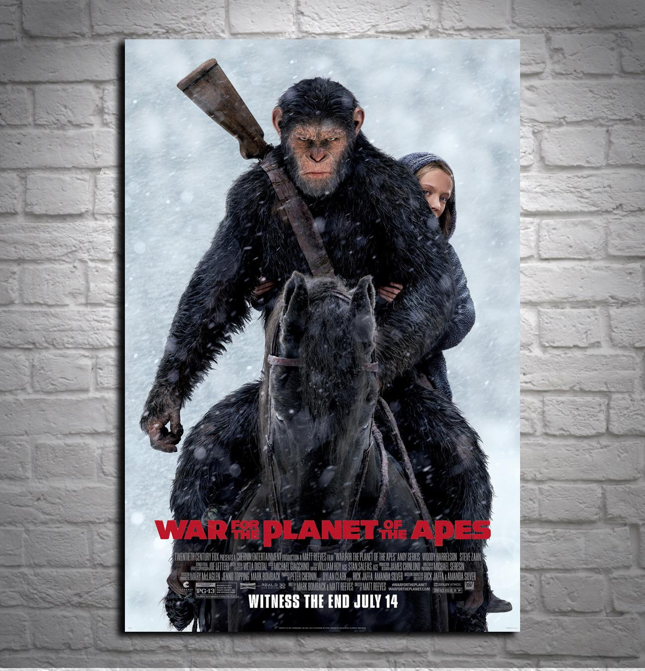 2018 High Definition Print Oil Painting Home Decoration Living Room War For The Planet Of Apes Review Size24x36Inch From Dhqicai02