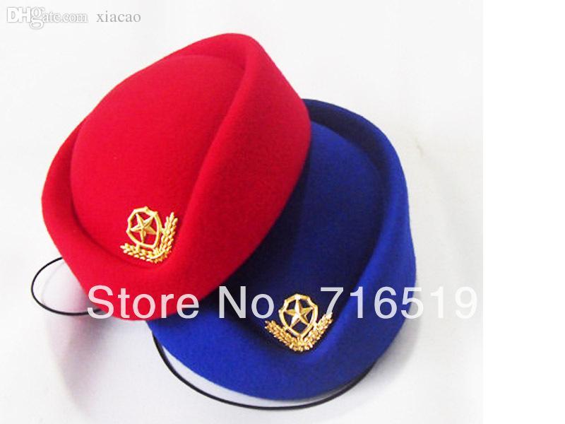 Wholesale-wholesale Air Hostess Hat Stewardess Cap 100% Wool Felt ...