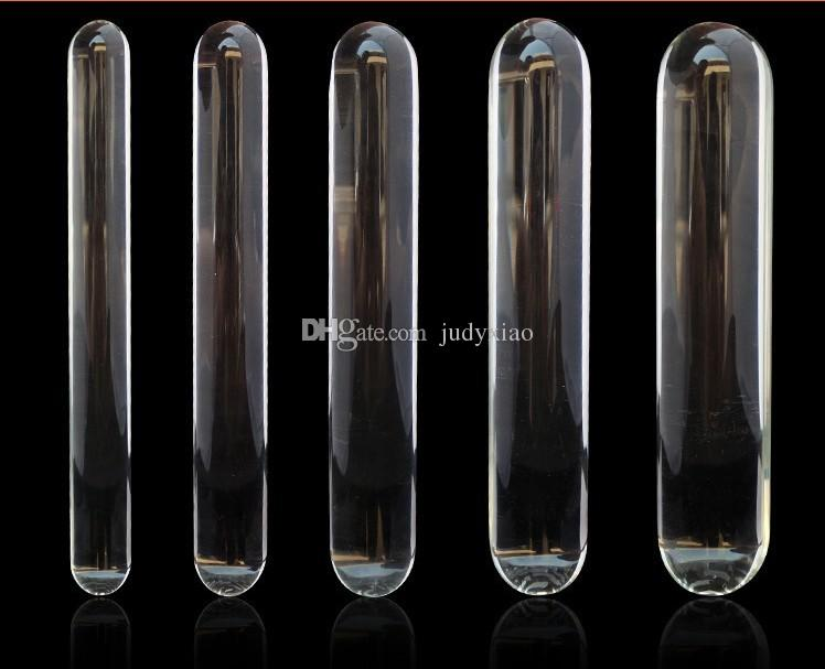 Stora vuxna spel glas dildo dongs kristall anal plug glas flirta stick sexleksaker för henne
