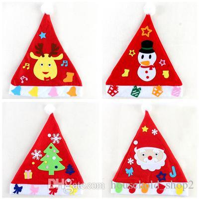 Handmade DIY Christmas Hats Toy Christmas Meaningful Gift Baby ...