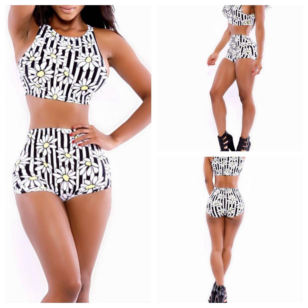 F-YH7029 2014 verano Floral de las mujeres de impresión 2 unidades vendaje bikini moda Bodycon vestido cortocircuitos que arropan el sistema mini vestido atractivo del partido del club