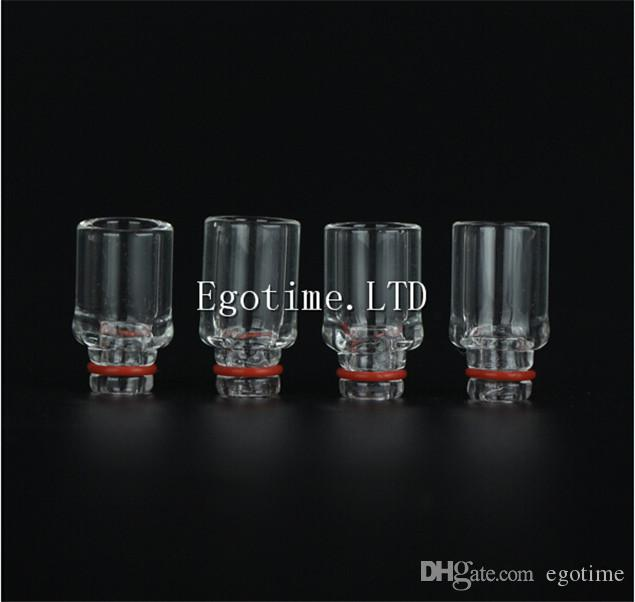 2016 NEWSET E Cigarette Pyrex Glass 510 Wide Bore Drip Tips Mouthpiece For RDA RBA kanger mini nano Subtank Vaporizer 510 Globe Atomizers