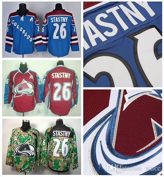 2018 2016 New, Wholesales Price 26 Paul Stastny Colorado Avalanche Jersey  Ice Hockey Jerseys Paul Stastny Burgundy Maroon Red Blue Camo From Since,  ...