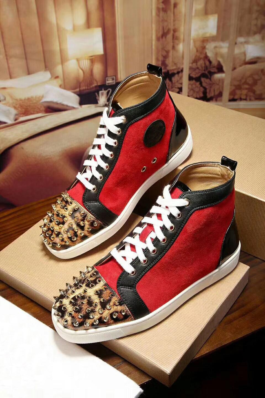 des nouvelles de  hommes femmes gloden gloden gloden en daim rouge léopard rouge tep a003b2